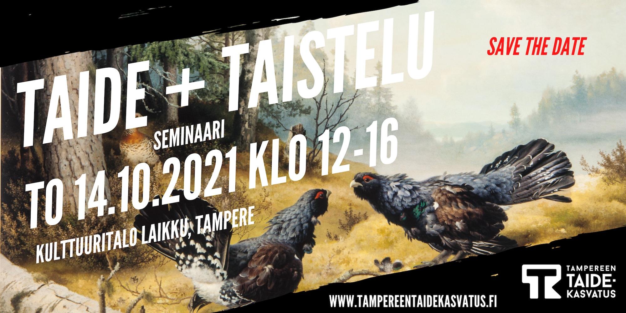 Taide + Taistelu -taidekasvatusseminaari 14.10.2021